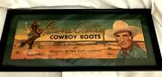 1940's Gene Autry Cowboy Boots, Brown Of Dallas, Texas Store Ad Framed And Matted