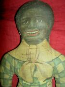 Super Rare, Very Early Black And White Cloth Dolls Two-dolls-in-one Excellent