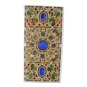 4and039x2and039 Black Marble Dining Table Top Pietra Dura Inlay Art Furniture Decors B349