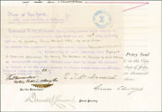 Grover Cleveland - Document Signed 07/20/1883 Co-signed By Daniel S. Lamont