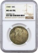 1949 50c Franklin Silver Half Dollar Ngc Ms66 Fbl Full Bell Lines Coin 144