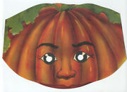 Great Ca1900 Lithograph Halloween Jack O'lantern Mask Excellent Antique