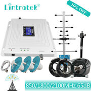 Phone Signal Repeater 2g 3g 4g Amplifier 850 900 2100 Booster Triband Data Voice