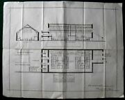 1876 Rare -alnwick Plan Of The Corn Exchange Proposed Court Rooms By F.r. Wilson