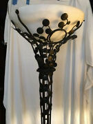 Wrought Iron Art Deco Torchiere