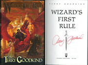 Terry Goodkind Signed Wizardand039s First Rule Hc 1st Ed 1st Pr Psa/dna Autographed