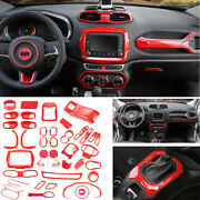Fit For Jeep Renegade 2015-2017 Car Interior Decoration Full Set Cover 1set Red