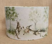 Voyage Boxing Hares Rabbit Countryside Country Wildlife Drum Lampshade 15 - 45cm