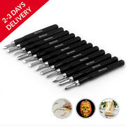 Hutsuls Small Wood Carving Tools Beginners 12 Mini Chisel Set Relief Knife Lino