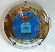 Harley Davidson Gold Plated Retired Dept Of The Air Force Derby Cover Motorcyle