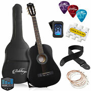 38-inch Beginner Acoustic Guitar Package - Starter Bundle Kit And Accessories