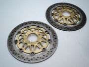 Suzuki Gsf1200 Gsf 1200 Bandit A235 Left And Right Front Brake Rotor / Discs