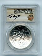 2020 P 1 Basketball Hall Fame Silver Commemorative Pcgs Ms70 Shaquille Oand039neal