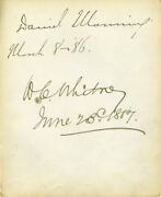 Daniel Manning - Signatures 03/08/1886 Co-signed By William Collins Whitney