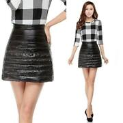 Duck Down Puffer Puffa Mini Skirts Lightly Quilted Padded Bubble Slim Dress New