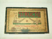 Structo Manufacturing Co 1920and039s Model Building Outfit 2 Erector Set 2