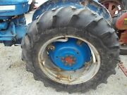 Ford 3000 Tractor Power Adjust Rims 13.6 X 28 Firestone Atfr F151 Tires