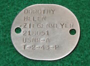 Wwii Us Navy Wave Women's Lieutenant Officer Dog Tag And Research