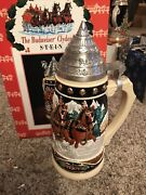 2002 Anheuser-busch Budweiser Clydesdales Stein Cs444 Rare Limited Ed Signed