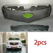 For Cadillac Xts 2013-2016 2017 Abs Black Front V-type Grille Grill Cover Trim