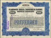 500 Carson Hill Mother Lode Mines Co. Nev. Preferred Bond1916 Issued