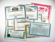100 Diff. Old Usa Paper Stocks And Bonds Certificates Nice Used/unused Great Deal