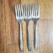 3 Antique Vintage Collectible Forks 6.25 Sharon Silver Plate- Aa