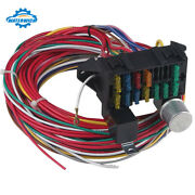 Car Universal Wire 12 Circuit Wiring Harness Fit For Street Hot Rod Wires Kit