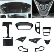 Carbon Fiber Style Interior Sticker Frame Cover Trim Fit For Acura Tlx 2015-2019
