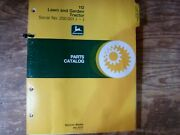 John Deere 112 Lawn And Garden Tractor Parts Catalog Manual Pc-1277 S/n 250001-up