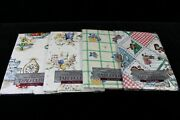 Vintage Home Trends Vinyl Flannel Back Tablecloths 60 Round Lot Of 4 New