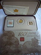 Holiday Gifts 2 Canada 24k Gilt Silver Coin Stamp Medal Sets Canada Only 3 Cent