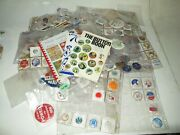 Political Presidential Elections Pins Badges Lot Of 200+ 1950's 1960s And 1970s