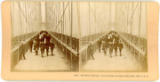 Stereo, Usa, Brooklyn Bridge, Scene Of The Accident, May 30th 1883 Vintage Stere