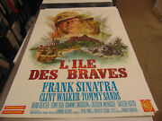 None But The Brave /orig. French Movie Poster Frank Sinatra/clint Walker N2476