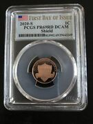 2020 S Lincoln Shield Cent 1c Pcgs Pr69rd Dcam First Day Of Issue 39643249 Flag
