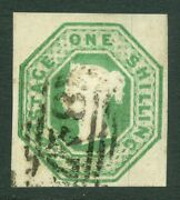 Sg 55 1/- Deep Green Very Fine Used With A 847 Numeral Warrington. Good...