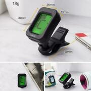 Lcd Clip On Chromatic Acoustic Electric Guitar Bass Tuner Banjo Ukulele A3n2