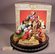 Enesco Disney Mickey Mouse Collection 4 Figurines The Later Years Fantasia Iob