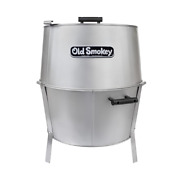 Old Smokey Charcoal Grill 22 In Silver Aluminized Chrome-plated Steel W/ 3