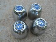 Used 1970and039s Vintage Afx A F/x Chrome 3 Center Cap Set Of 4