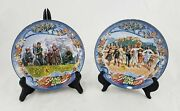 Pair Of Sound Of Music Bradford Exchange Collectors Plates W/ Music Box 30th Anv