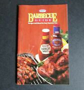 Kraft Barbecue Bbq Guide Recipes And Ideas For Summer 1987 Free Sh