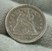 1849 O Seated Liberty Dime 10c - Nice Coin Key Date 300000 Minted 9831