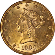 1900-p Liberty Gold 10 Ngc Ms61 Great Eye Appeal Strong Strike