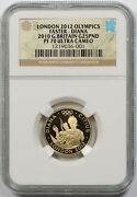 2010 Great Britain London 2012 Olympics Faster Diana Gold 25 Pounds Pf 70 Uc Ngc