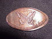 Giant Swallowtail Moth On Elongated Cu/zn Cent Bk5169