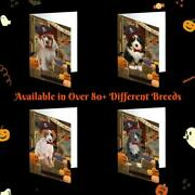 Halloween Trick Or Treat Dog Cat Photo Greeting Invitation Card Pack Of 10