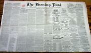 1860 Presidential Election Newspaper W Description Abraham Lincoln Personality