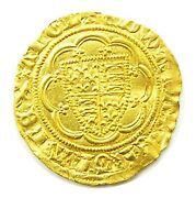 14th Century Medieval Gold 1/4 Noble Of King Edward Iii London 1361 - 1369 Ad